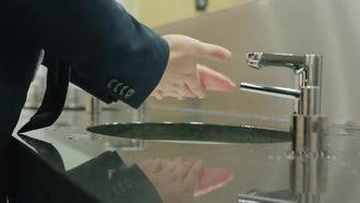 Man Washing Hands: Stock Video