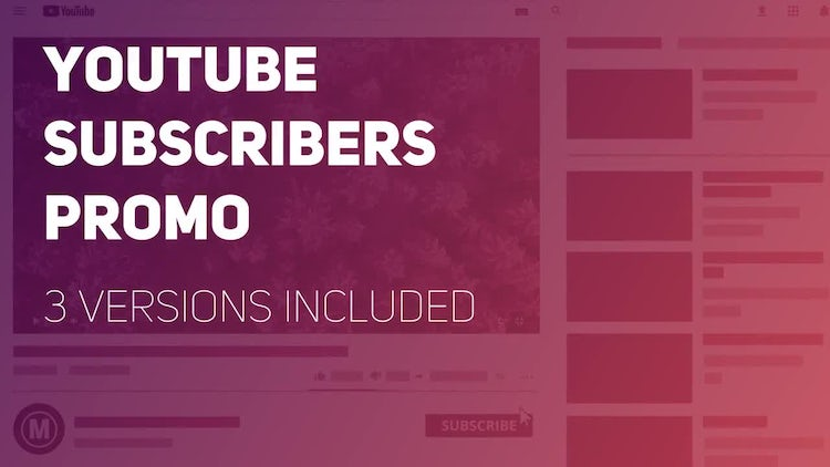 YouTube Subscribers Promo: Premiere Pro Templates