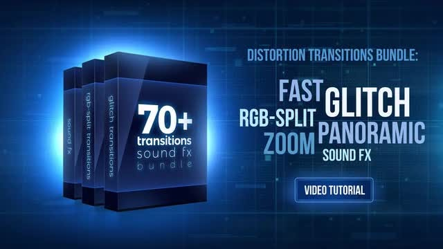 70+ Bundle: Glitch And RGB-split Transitions, Sound FX: Premiere Pro Templates