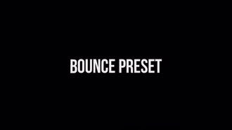 30 Bounce Presets : After Effects Templates