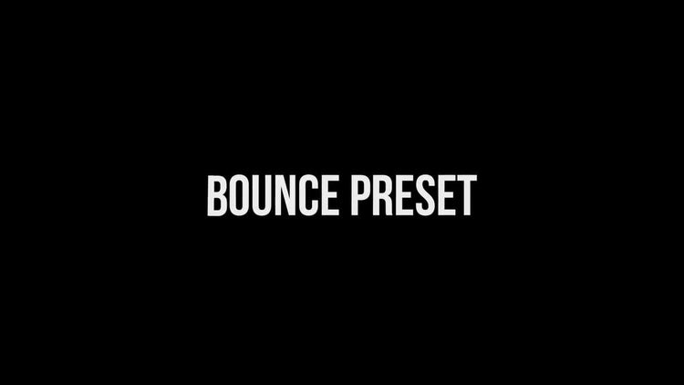 30 Bounce Presets : After Effects Presets