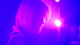 Blonde Girl DJ Working  : Stock Video