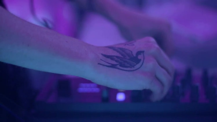 Lady DJ Mixing : Stock Video