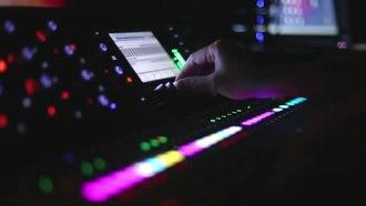 Tweaking DJ's Deck Controls : Stock Video
