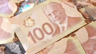 Canada Dollars Rotating: Stock Video