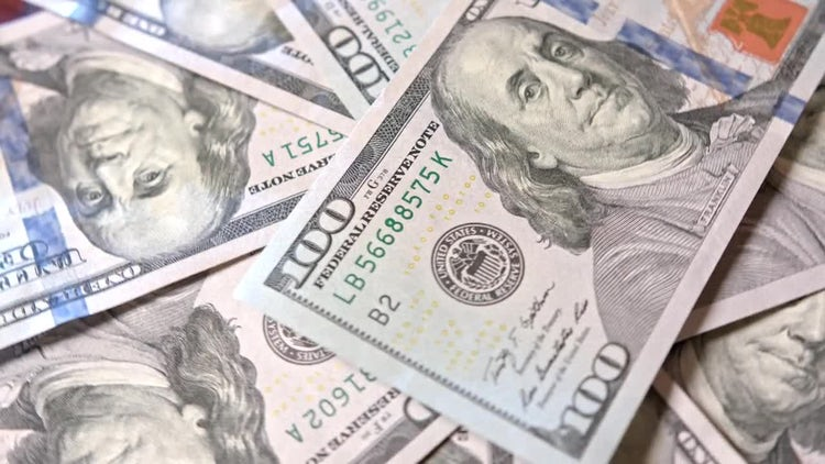Bunch Of US Dollars Cash : Stock Video