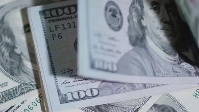 Bunch Of 100 Dollars Cash: Stock Video