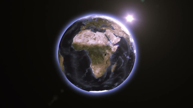 Glowing Rotating Earth: Motion Graphics