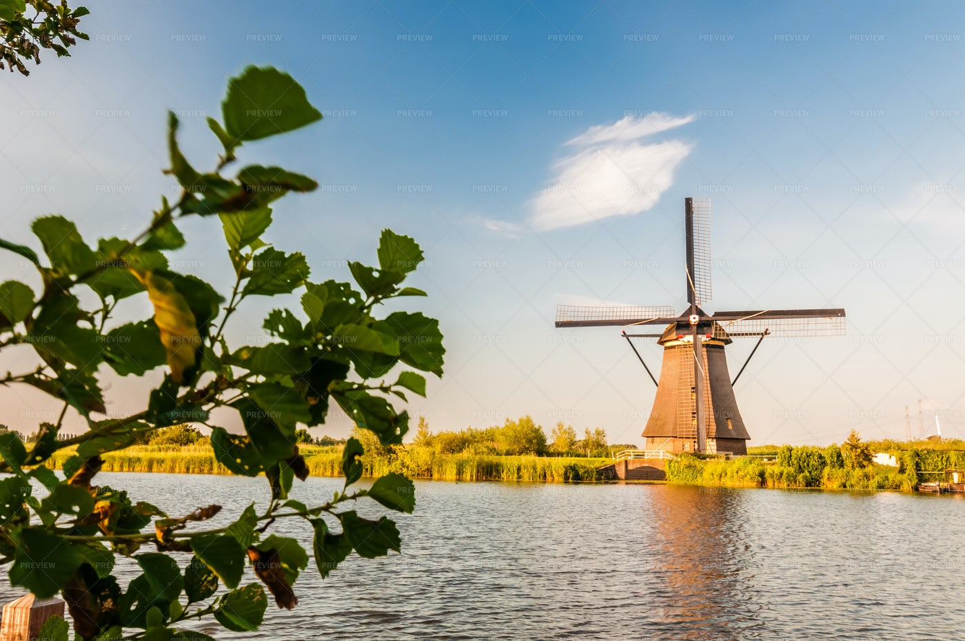 Dutch Windmills: Stock Photos