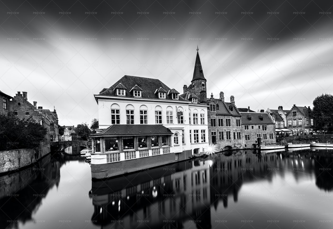 Architecture Of Bruges: Stock Photos