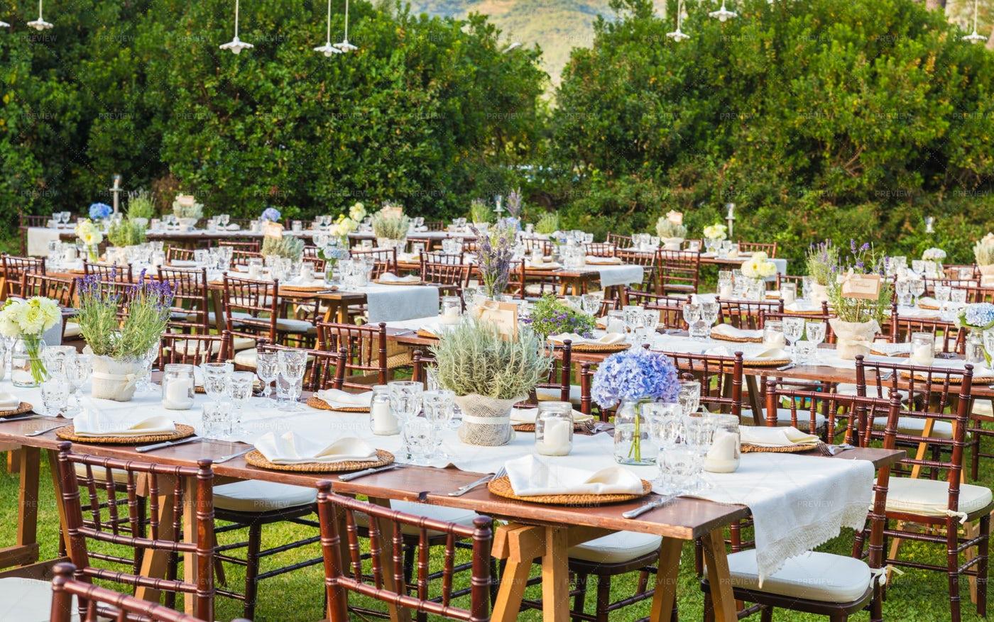 Tables For The Gala Dinner: Stock Photos