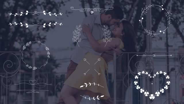 Wedding Elements - Borders Frames: Stock Motion Graphics