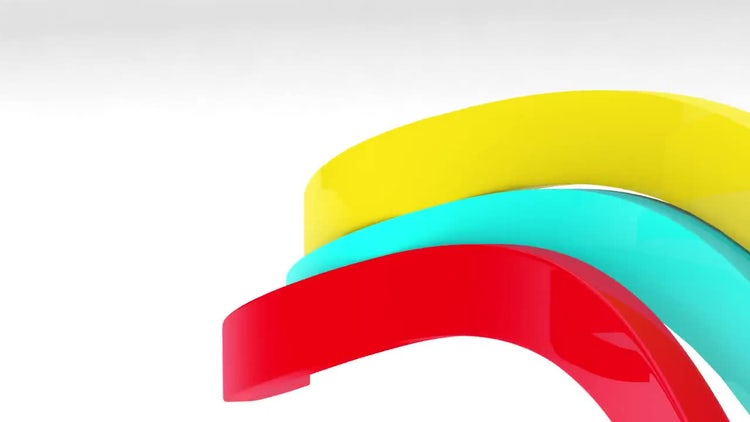 3D Ribbons Logo: After Effects Templates