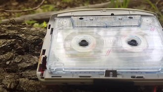 Audio Cassette Playing Outdoors: Stock Video