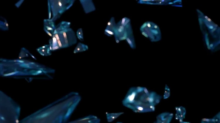 Broken Glass Pieces Pack: Stock Motion Graphics