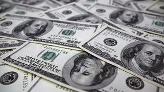 Scattered 100 Dollars: Stock Video