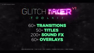 Glitchmaker Toolkit: 350+ Elements: Premiere Pro Templates