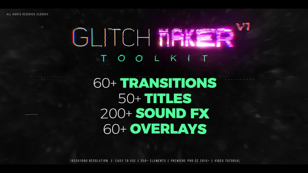 Glitchmaker Toolkit: 350+ Elements - Premiere Pro Templates