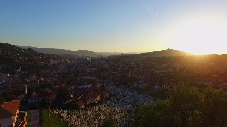 Sarajevo Aerial: Stock Video