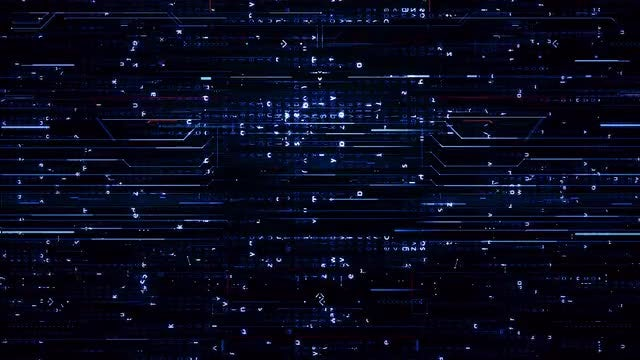 Digital Blue Hi-Tech Backgrounds: Stock Motion Graphics