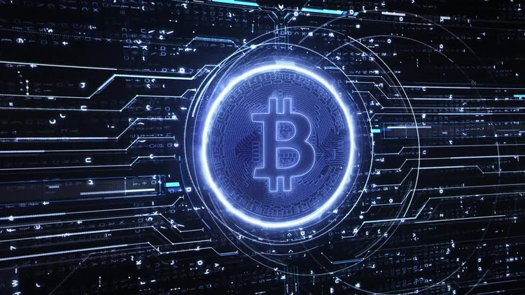 Bitcoin Hi-Tech Background: Stock Motion Graphics