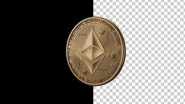 Ethereum Coin Spinning : Stock Motion Graphics