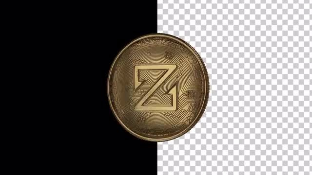 ZCoin Cryptocurrency Coiling Loop: Stock Motion Graphics