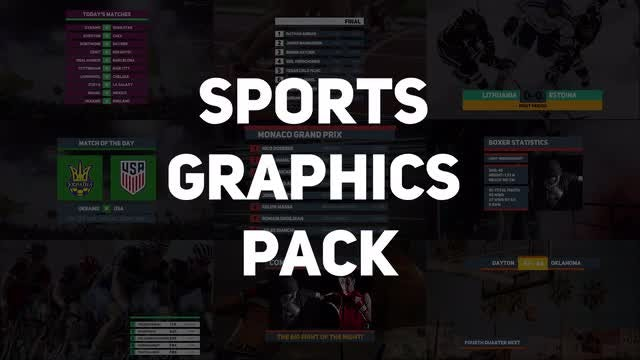 Sports Graphics Pack: Premiere Pro Templates