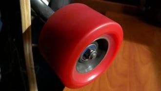 Spinning Skateboard Wheel: Stock Video