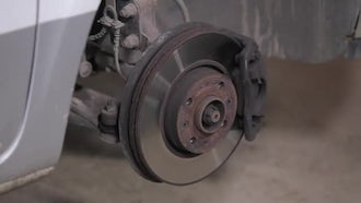 Checking Repaired Car Wheel: Stock Video