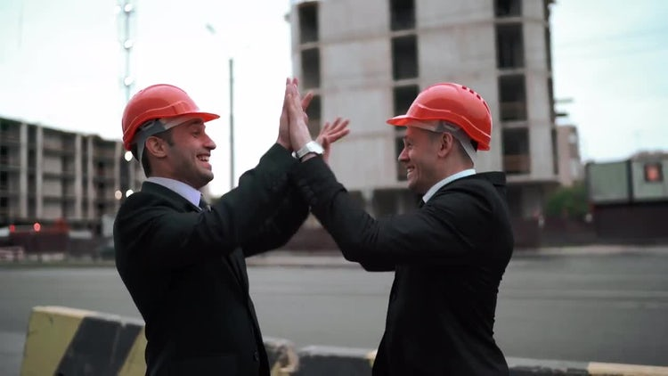 Two Architects High-five: Stock Video