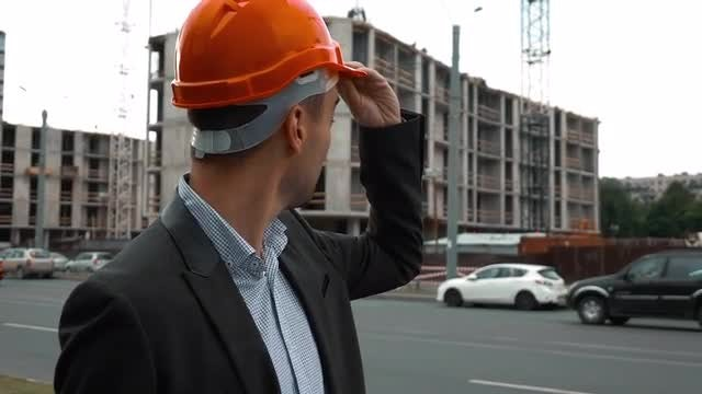 Architect Looking At Project: Stock Video