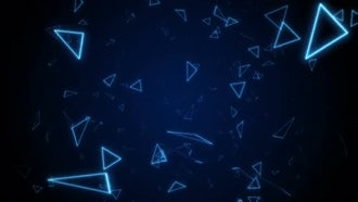 VJ Triangles Background: Motion Graphics