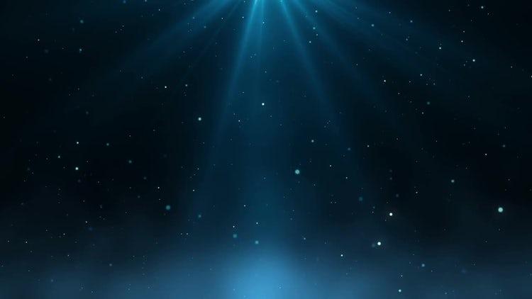 Blue Particles Background: Motion Graphics