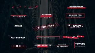 Glitch Titles: Motion Graphics Templates