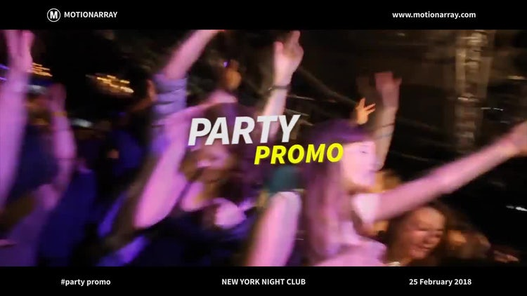 Party Promo: Premiere Pro Templates