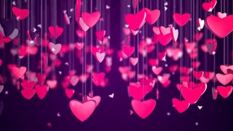 Romantic Love Heart Background: Motion Graphics