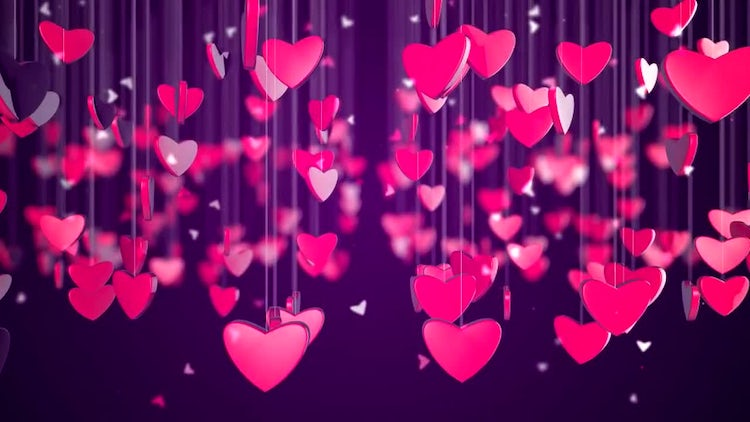 Romantic Love Heart Background: Stock Motion Graphics
