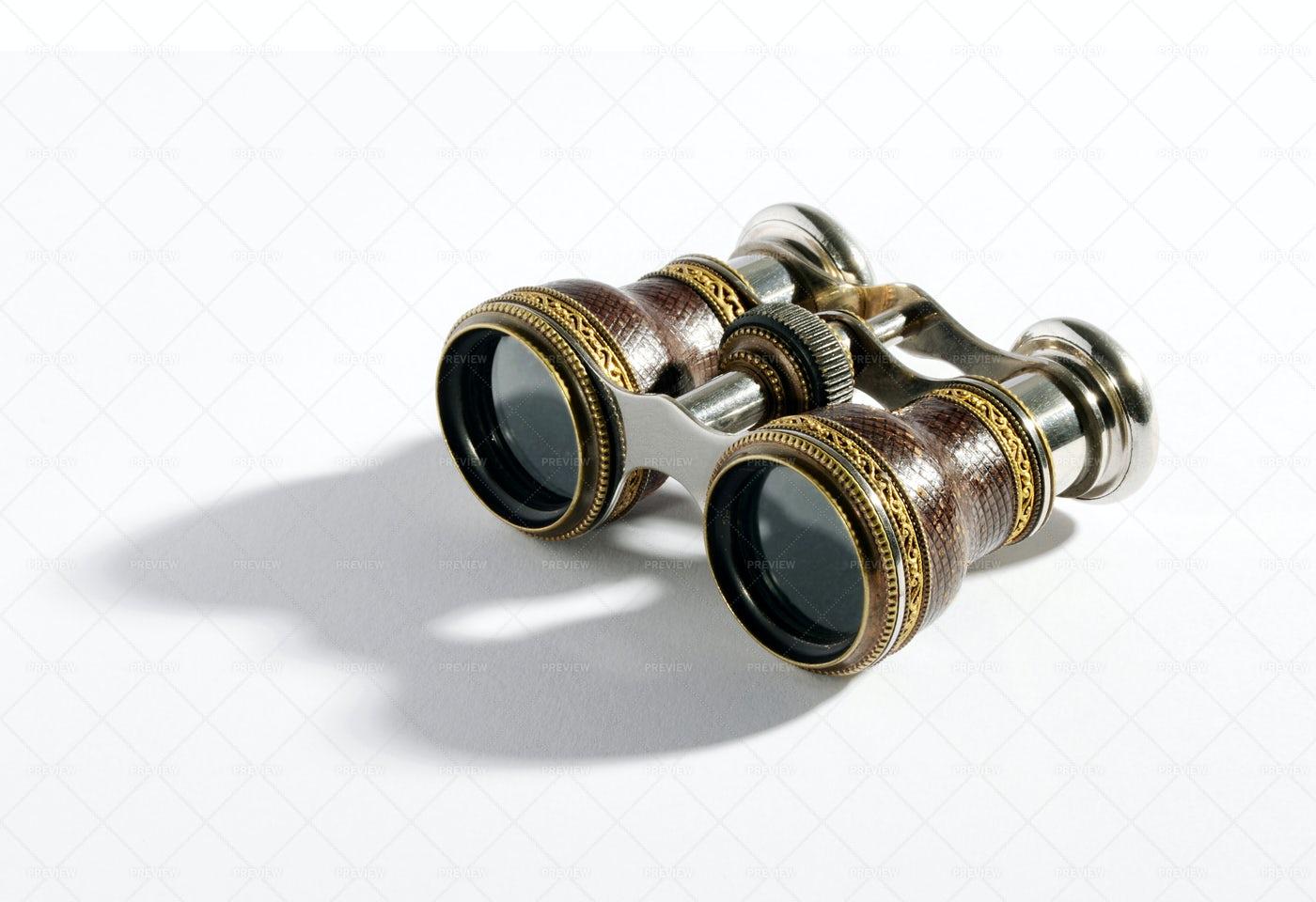 Vintage Binoculars: Stock Photos