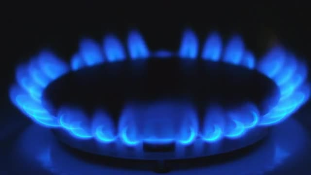 Gas Stove Burning: Stock Video