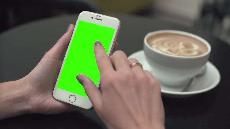 Scrolling Mobile Phone Green Screen: Stock Video