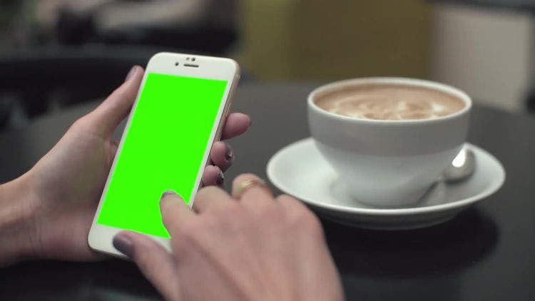 Clicking a Green Screen Phone : Stock Video