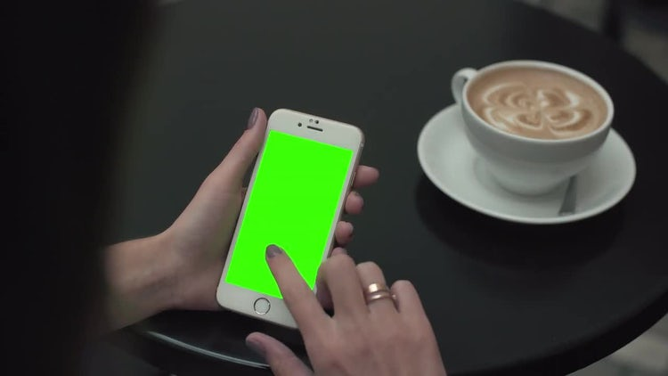 Mobile Phone Click In Cafe: Stock Video