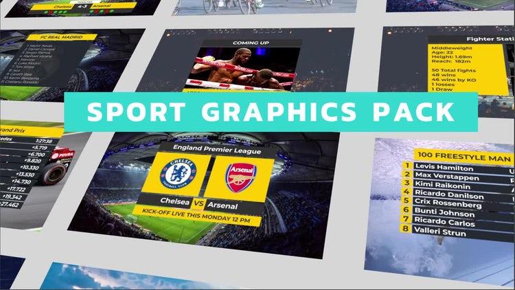 Sport Titles Graphics Pack: Premiere Pro Templates