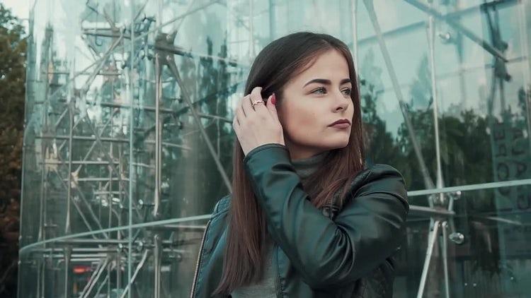 Girl Combs Fingers Through Hair: Stock Video