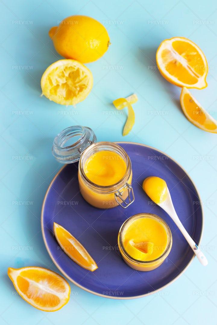 Homemade Lemon Curd: Stock Photos