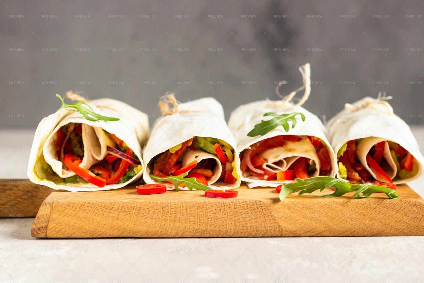 Tortilla With Vegetables: Stock Photos