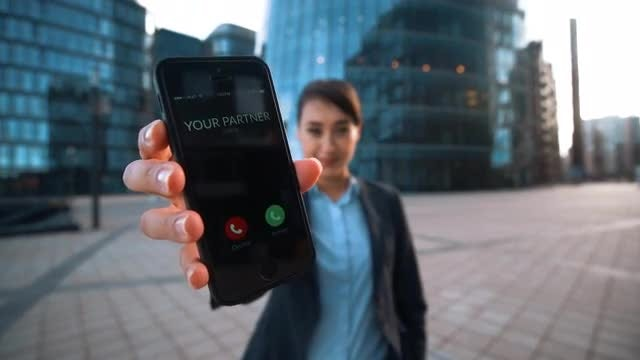 Answer Your Partner's Phone Call : Stock Video