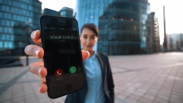 Answer Call From Your Child: Stock Video