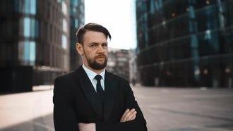 Businessman Refuses : Stock Video